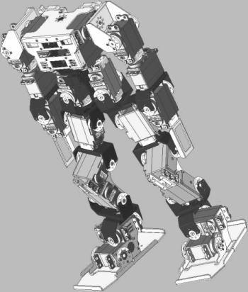 2足歩行ロボットの完成イメージ図