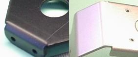 アルミ板のアルマイト処理サンプル(黒・白)