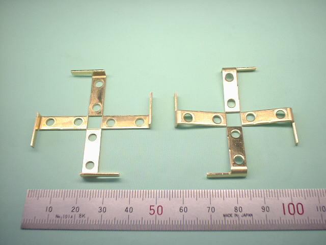 真鍮製センサードグ 真ちゅう板 C2801P t1.0|企業様向け精密板金加工部品写真