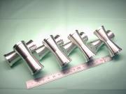 テーパーアルミ丸棒(4種類) アルミ合金 A5052 試作加工品|機械加工サンプル写真