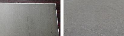SUS304-2B仕上げ鋼板の表面状態